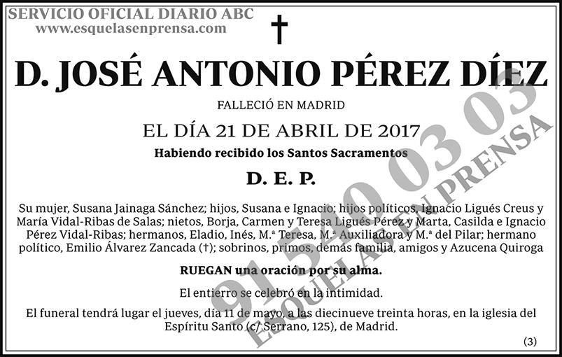 José Antonio Pérez Díez